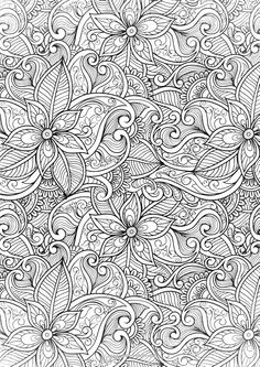 Creative Therapy: An Anti-Stress Coloring Book: Hannah Davies, Richard Merritt… Free Adult Coloring Pages, Colouring Pages, Printable Coloring Pages, Coloring Sheets, Coloring Books, Doodle Coloring, Mandala Coloring, Anti Stress Coloring Book, Silkscreen