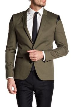 57e802210 Adgert Notch Lapel Two Button Long Sleeve Sport Coat Hugo Boss Suit, Sport  Coats,