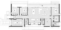 plans for 3 bedroom houses 3 bedroom with study floor plan architectural design 3 bedroom house Modern House Plans, Small House Plans, House Floor Plans, The Plan, How To Plan, H Design, Plan Design, House Design, South Facing House