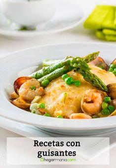 Recetas con guisantes - Cocina Abierta   #recetas #guisantes #cocina #cocinaabierta Healthy Eating, Meat, Chicken, Recipes, Food, Fitness, Hake Recipes, New Recipes, Tasty Food Recipes