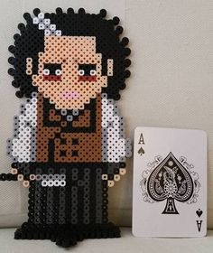 Johnny Depp's Sweeney Todd Perler Beads by LittleDpiece