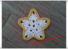 Stelline da appendere sull'albero di natale Crochet Earrings, Winter Time, Amigurumi, Xmas