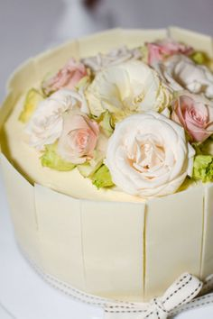 Wedding cake with white chocolate