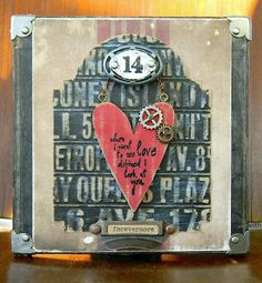 Altered Canvas by Shelly Hickox featuring Tim Holtz Alterations dies and Idea-ology.