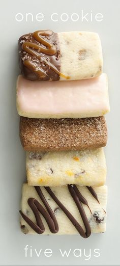 Shortbread Cookies made 5 ways with the same mix!