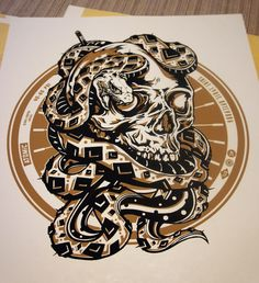 Artcrank Poster 2012 {Midwestern Knobby} by Brian Yap, via Behance
