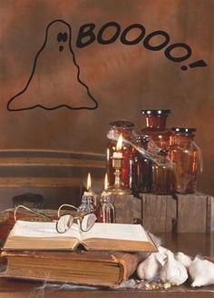 """Halloween Ghost Removable Vinyl Wall Decal 22"""" X 10"""" Black By Katazoom Katazoom http://www.amazon.com/dp/B00A2VMI8Y/ref=cm_sw_r_pi_dp_uoYdwb0X4T7RH"""