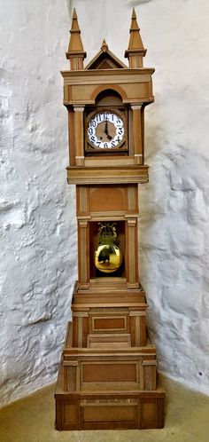 Cardboard Grandfather Clock by SnappyPancakes on Etsy