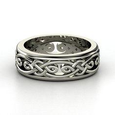 Men's Sterling Silver Ring   Alhambra Band   Gemvara