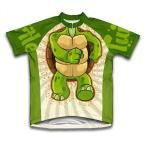 Unisex 4X-Large Green Turtle Microfiber Short-Sleeved Cycling Jersey