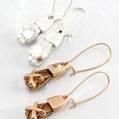 Handgemaakte armbanden en oorbellen van trendy plat imi leer!
