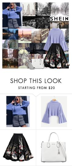 """🏢City Snow❄️"" by kailey-muter ❤ liked on Polyvore featuring MICHAEL Michael Kors, Kristin Cavallari, Winter, city and shein"