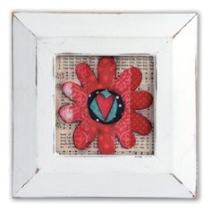 Flower Frame #3   A little of this and a little of that. The Homegrown & Handmade collection by Stephanie Ackerman will bring floral inspiration into your home with many lovely creations.  Artist: Stephanie Ackerman