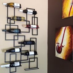 Oenophilia Mid Century 10 Bottle Wall Mounted Wine Rack & Reviews | Wayfair