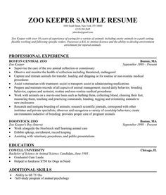 Resume Templates Zoo Resume Templates Resume Cover Letter Examples Resume Templates Good Resume Examples