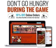 #49ers - #Broncos tonight! Order online @KokomosPizza & we'll deliver to you! #15%off #kokomospizza #danapoint #SNF