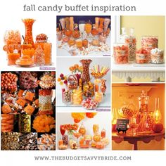 fall candy buffet inspiration