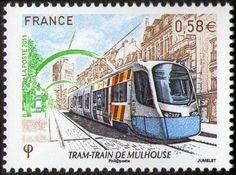 Tram Train de Mulhouse - timbre de 2011