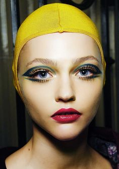 Sasha Pivovarova at Miu Miu A/W 2008-09 Backstage