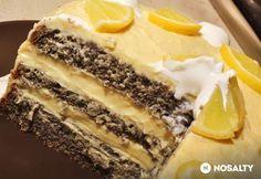Máktorta citromkrémmel My Recipes, Dessert Recipes, Recipies, Poppy Cake, Hungarian Recipes, Cakes And More, Tiramisu, Mousse, Clean Eating