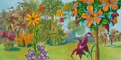 illustration by Kate Samworth, acrylic inks, botanical fantasy