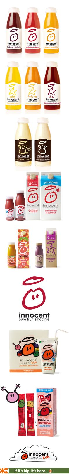 Innocent Brand drinks for Adults and Kids.