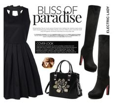 """""""black lady"""" by m-zineta ❤ liked on Polyvore featuring Paco Rabanne and Sebastian Professional"""