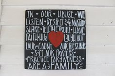 Personalized Christian House Rule Sign by zoegirlgifts on Etsy, $32.00