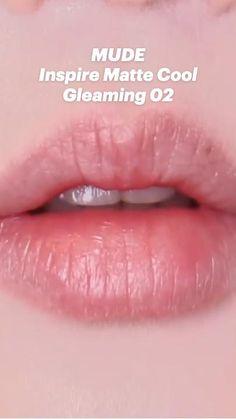 Face Makeup Tips, Makeup Looks, Hair Makeup, Matte Makeup, Makeup Cosmetics, Matte Lipstick, Asian Makeup, Korean Makeup, Gradient Lips Korean