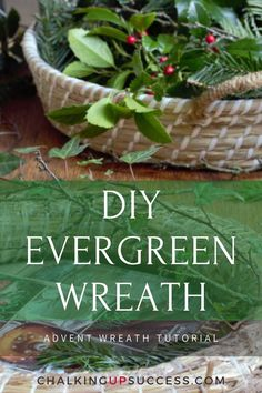 This step-by-step tutorial shows you how to make an evergreen Christmas wreath from scratch and shows some beautiful examples of how to decorate an evergreen wreath with candles for Advent. Christmas Wreaths To Make, Holiday Wreaths, Christmas Projects, Christmas Decorations, Christmas Ideas, Cottage Christmas, Christmas Tree Farm, Nordic Christmas, Hygge