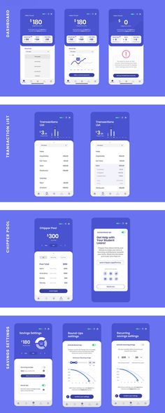 The Cheaper Personal Finance App Free UI Kit · Pinspiry - Finance tips, saving money, budgeting planner Web Design Mobile, App Ui Design, Dashboard Design, Design Design, Graphic Design, Finance Books, Finance Tips, Ui Kit, Design Thinking