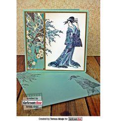 Rubber Stamp Set - Kimono Vol 2