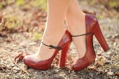 Louis Vuitton - cute !  I debate if the chunky heel looks good on me or not.