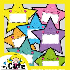 These fun colorful star labels and perfect for making name cards, signs and container labels in your classroom!I have included 8 different coloured labels in this packet. An editable file option is also included (text fields editable only).