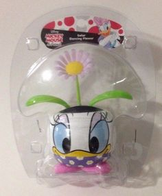 Disney Daisy Duck Solar Dancing Flower Mickey Mouse and Friends Window Dashboard #Disney
