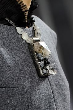 Chanel Fall 2012 - Details  crystal necklace