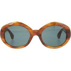 Tortoiseshell acetate sunglasses ($170) ❤ liked on Polyvore featuring accessories, eyewear, sunglasses, glasses, amber tortoiseshell, tortoiseshell glasses, dries van noten sunglasses, acetate sunglasses, tortoise shell sunglasses and tortoise shell eyewear