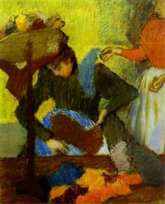 At the Milliners By Edgar Degas ,1898