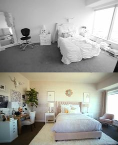 Before and After: Glam LA Bedroom Makeover by Mr Kate