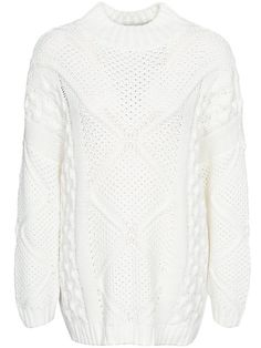 Onlstella L/S Highneck Pullover Knt - Only - Valkoinen - Puserot - Vaatteet - Nainen - Nelly.com