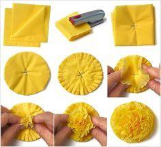 Make These Superb Tissue Paper Flowers   Interior Designs Diwali or Dia de Los Muertos Marigolds?
