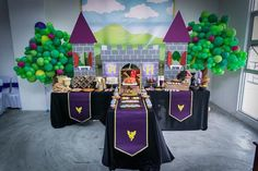 Medieval Knight themed birthday party with So Many Fabulous Ideas via Kara's Party Ideas | Cake, decor, cupcakes, games and more! KarasParty...