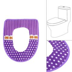 Fashion Thick Warm Toilet Seats Plush Dot Thicken Carpet Toilet Seat Washable Cover Soft  Potty Home Decor Bathroom Products