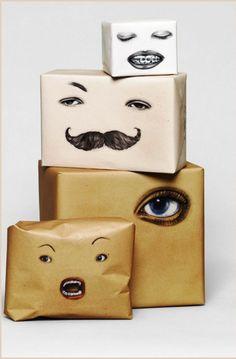 DIY Facial Wrapping Paper