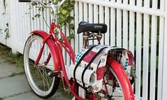 Bicycle panniers designed by Matt DeVries Tutorial and downloadable pattern