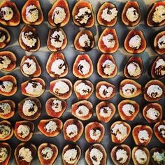 Wedding hors d'euvres of stuffed figs w/ goat cheese mousse & balsamic reduction by Caveman Cafeteria - See more at: http://www.stellareventsco.com/2013/09/featured-stellar-events-inner-circle-member-caveman-cafeteria-gourmet-catering/#sthash.3k3E1e5Z.dpuf