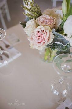 WEDDING | Eddie & Melindie  FLOWERS | Garden roses, dusty miller, tulips PHOTOS | Shaula Greyvenstein Photography