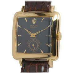 Designer, Gold and Luxury Wrist Watches - For Sale at.- Designer, Gold and Luxury Wrist Watches – For Sale at Rolex Yellow Gold Square Automatic Wristwatch circa - Vintage Military Watches, Army Watches, Retro Watches, Vintage Watches For Men, Vintage Rolex, Cool Watches, Rolex Watches, Wrist Watches, Watches Photography