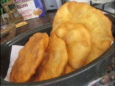 Frybread Recipe * Flour (I use Blue Bird Flour) * Vegetable Oil (For Frying) * Baking Powder (I use Clabber Girl Brand) * Warm water * let dough set for 15 t...