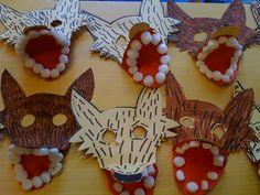 Roodkapje: wolven masker knutselen